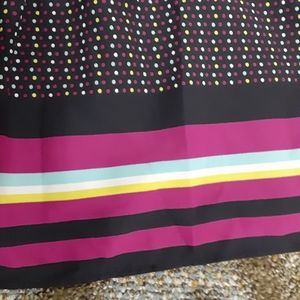 Old Navy Black Skirt w Colorful Dots  Sz 12